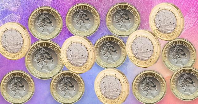 pound coins saving challenge