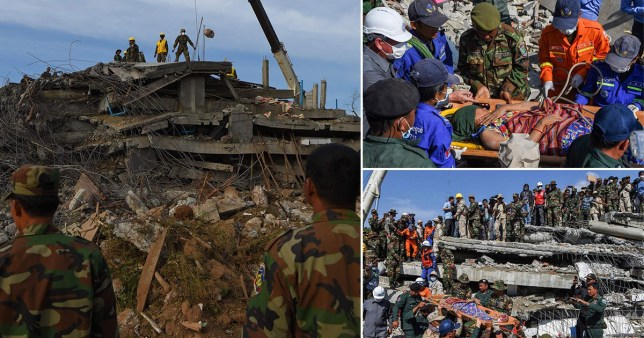 The construction of a guest house collapsed in Cambodia, claiming the lives of at least 10 workers