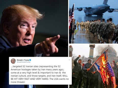 Donald Trump threatens to hit 52 targets in Iran 'very fast and hard'