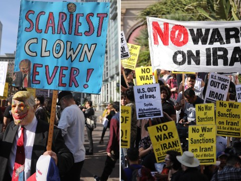 Anti-war protests across the world after US airstrike