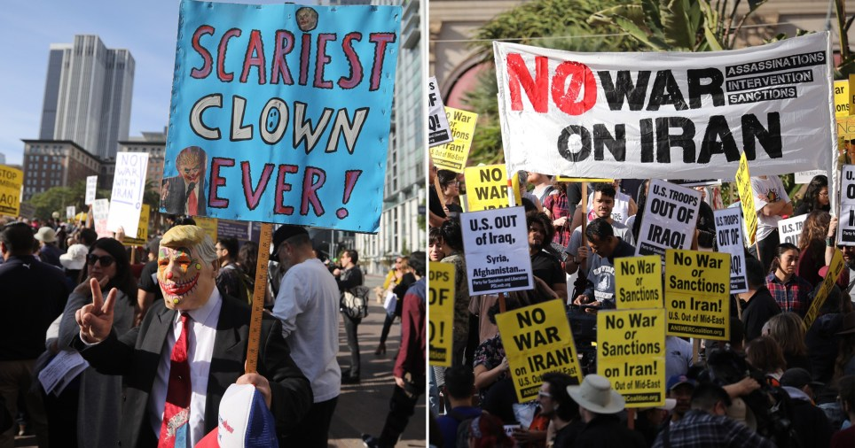 Anti-war protests as world reacts to US air strike
