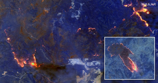 Devastating extent of Australia's bushfires seen from space