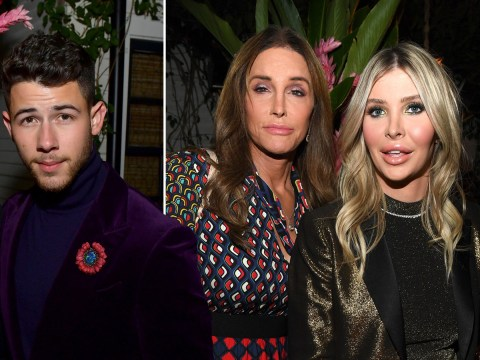 Caitlyn Jenner and Sophia Hutchins join Nick Jonas and Priyanka Chopra at swanky Vanity Fair party – after insisting they're 'just friends'