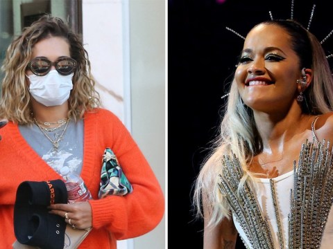 The Masked Singer's Rita Ora keeps on top of her health as she visits doctor's office wearing face mask
