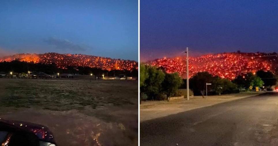 The hillside looked 'like lava'