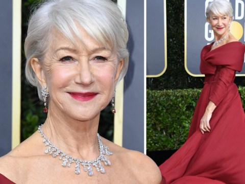 Helen Mirren wins 2020 Golden Globes red carpet dripping in $4m worth of diamonds
