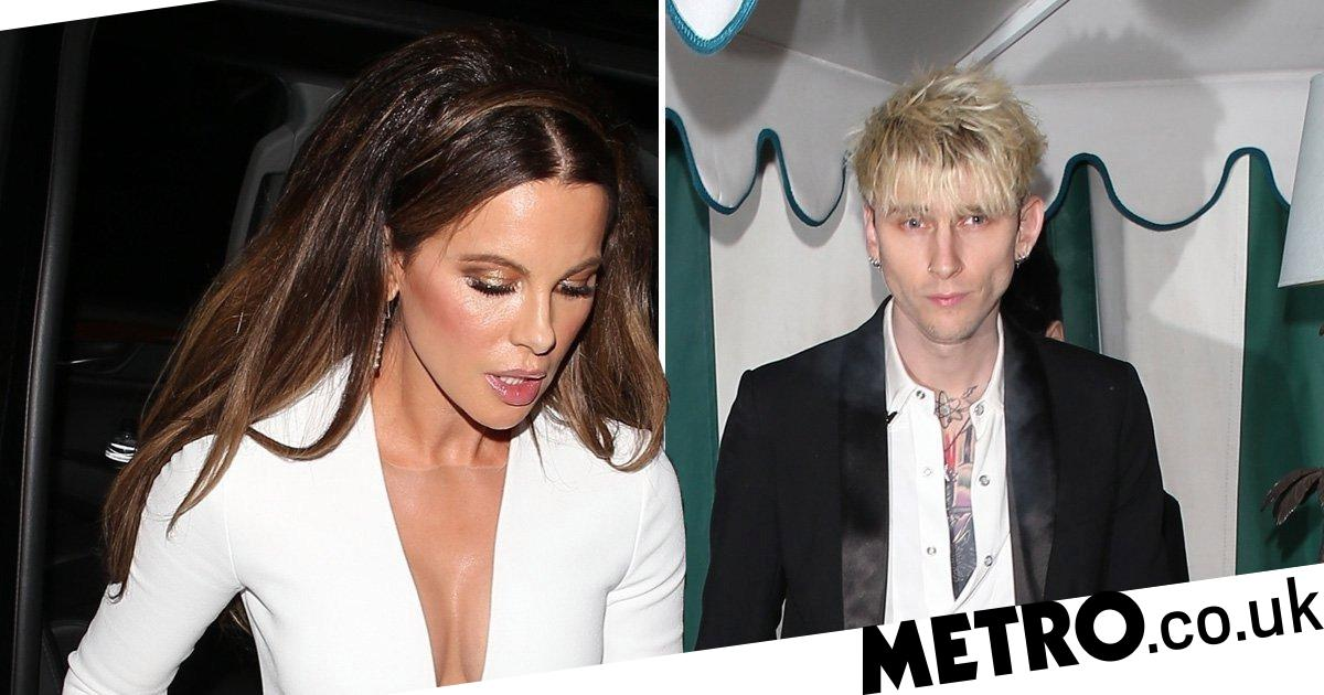 PRC 116738526 1578355640 - Kate Beckinsale leaves Golden Globes with Machine Gun Kelly