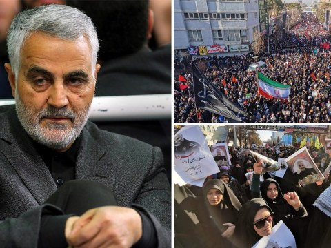 Soleimani's remains arrive at hometown for burial as thousands chant 'death to USA'