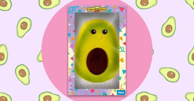 asda vegan avocado cake on an avocado background