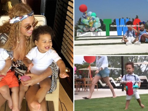 Beyonce shares the cutest video of twins Rumi and Sir on their second birthday and our hearts can't handle it