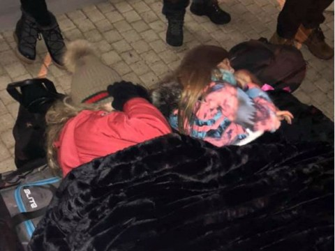 British family forced to sleep outside airport in -2C temperature after flight delay