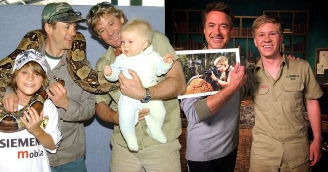 Steve Irwin Robert Downey Jr