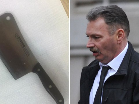 Man 'tried to enter bar with a meat cleaver hidden in his sock'