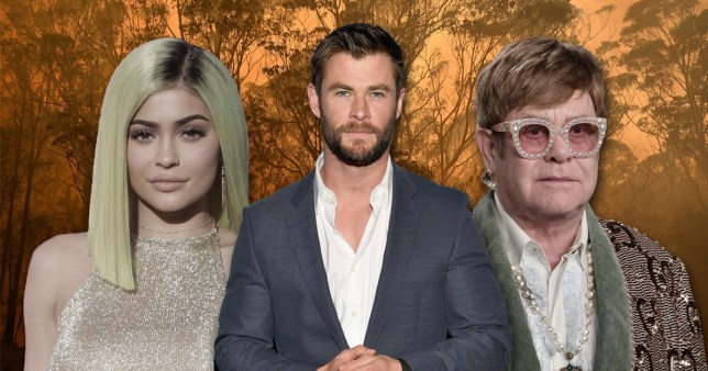 Kylie Jenner, Chris Hemsworth and Elton John