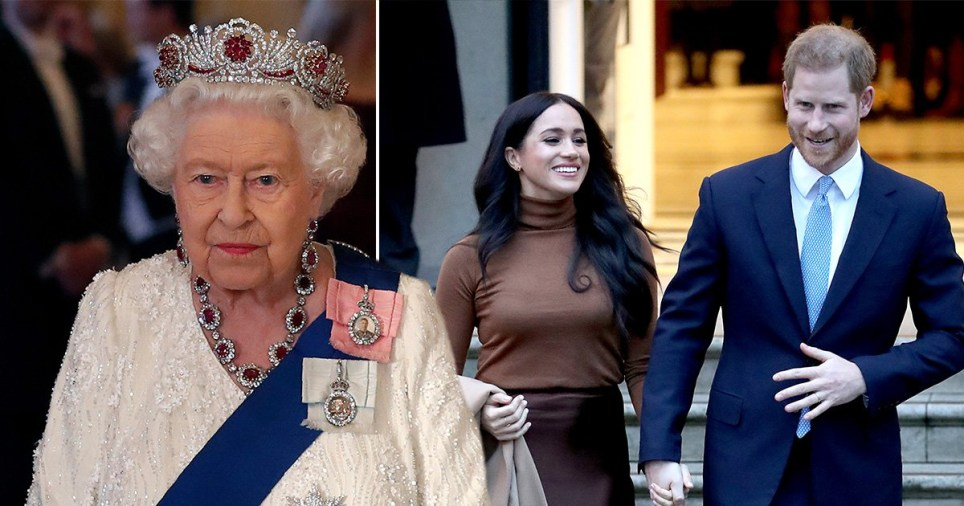 The mood at Buckingham Palace was said to be 'one of disappointment' after Harry and Meghan's announcement