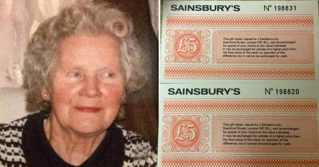 Sainsbury's honours gift vouchers from 1988 found in gran's home after she died