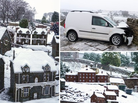 First snow of 2020 hits UK amid warnings of heavy rain and wind this weekend