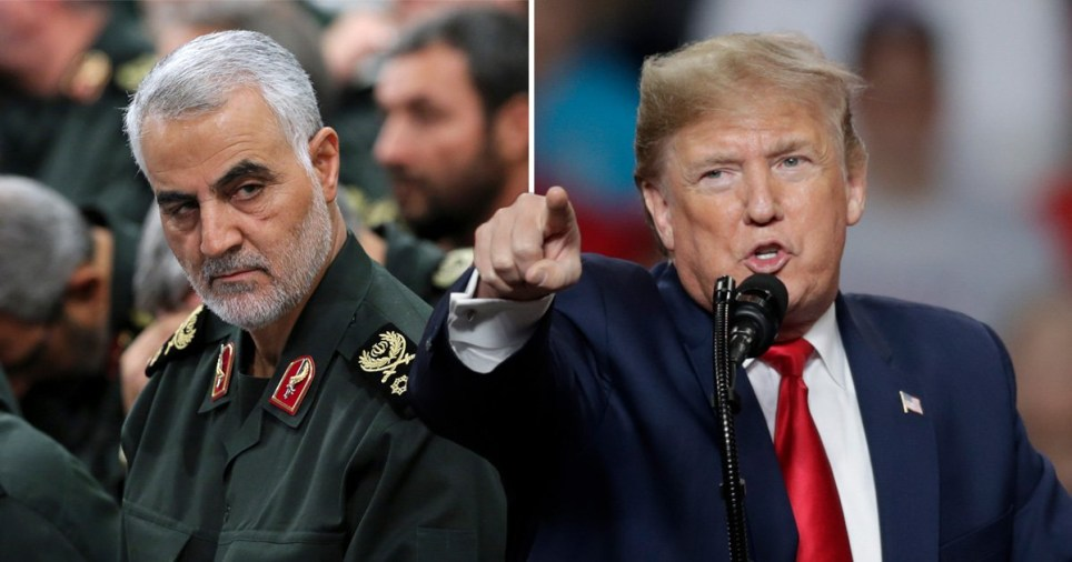 The first re-election campaign rally of the year kicked off with Trump mobilising support for killing Iran's top general (Picture: AP)