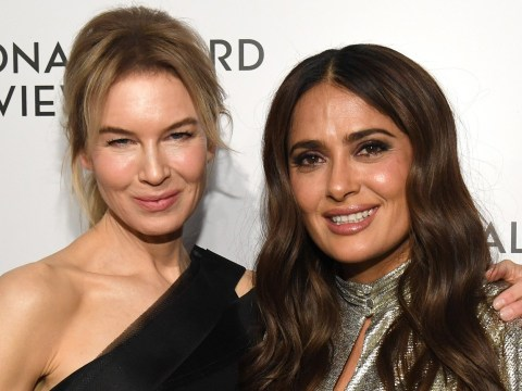 Salma Hayek's 'big butt' ripped her Oscars dress so Renee Zellweger lent her a new one because friendship