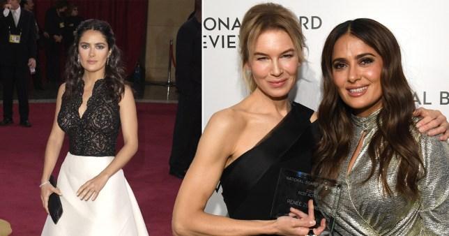 Renee Zellweger once lent Salma Hayek a dress for the Oscars