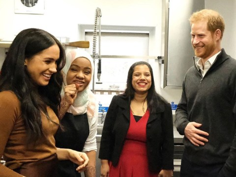 Prince Harry and Meghan Markle post photos of 'secret' visit to Grenfell kitchen