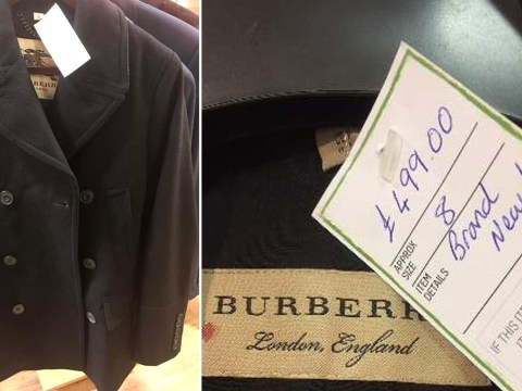 Oxfam branded 'greedy' over Burberry coat for sale at charity shop at £500