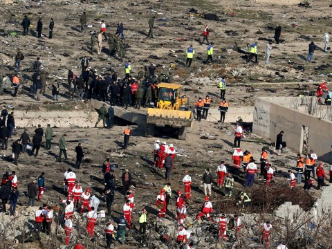 Iran uses bulldozers at crash site of Ukrainian airliner it denies shooting down