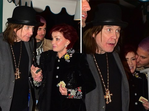 Sharon Osbourne laughs off rumours Ozzy was on his 'deathbed' as he looks on the mend on date night
