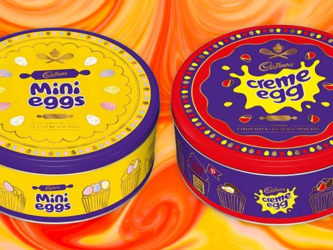 You can now get tins filled with Creme Eggs or Mini Eggs
