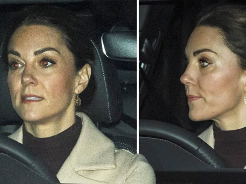Kate spotted on school run ahead of Harry and William's crisis talks with Queen