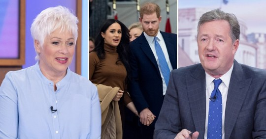 Denise Welch, Prince Harry, Meghan Markle and Piers Morgan