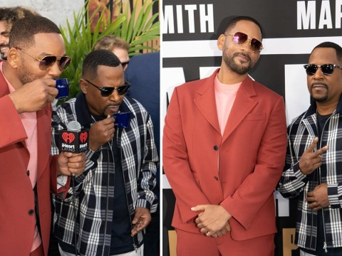 Will Smith and Martin Lawrence hit Miami for Bad Boys 3 premiere… but they've still got time for an espresso