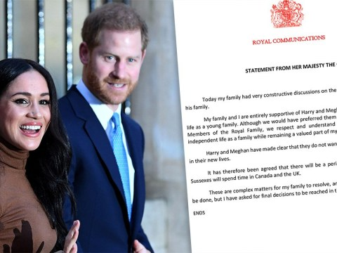 Harry and Meghan will have 'transition period' between Canada and UK