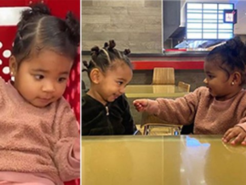 Kim Kardashian will make you broody with this super cute video of Chicago and True at Target