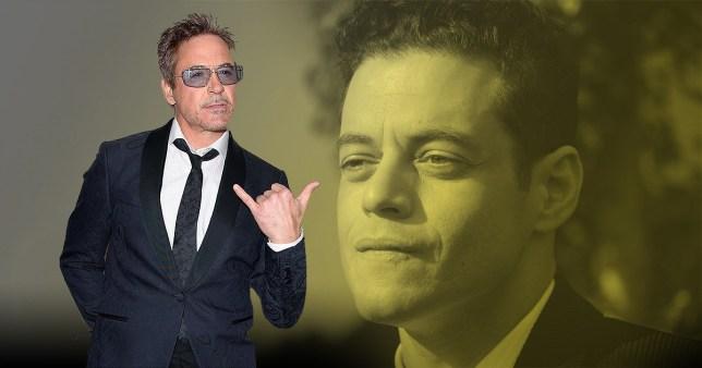 Robert Downey Junior and Rami Malek