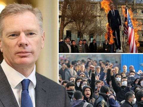 Ambassador to Iran returns to UK after being arrested at protest