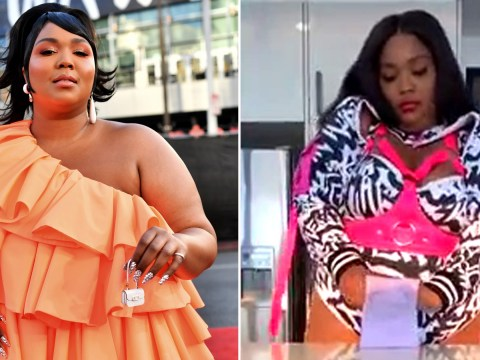 Lizzo can fit a whole lot in her teeny tiny handbag as she pokes fun at trend in hilarious viral video