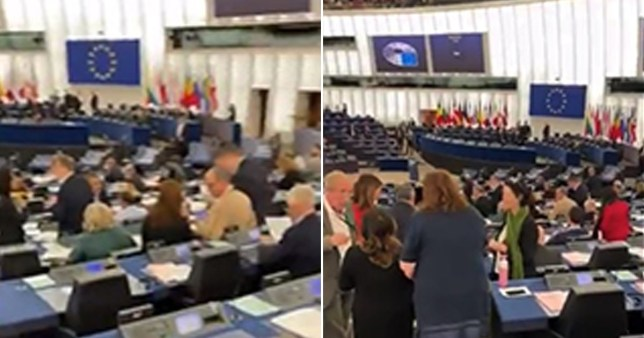 British MEPs take their seats for the last time in Strasbourg