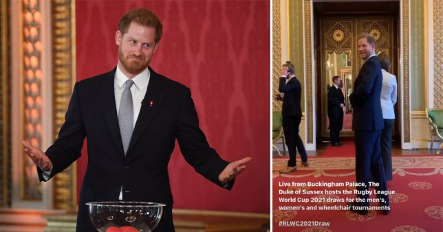 Prince Harry hosting the Rugby League World Cup 2021 draw at Buckingham Palace