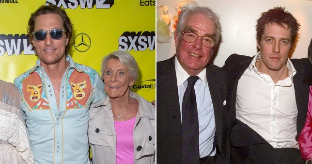 Matthew McConaughey's mum, 88, is going on a date with Hugh Grant's 91-year-old dad