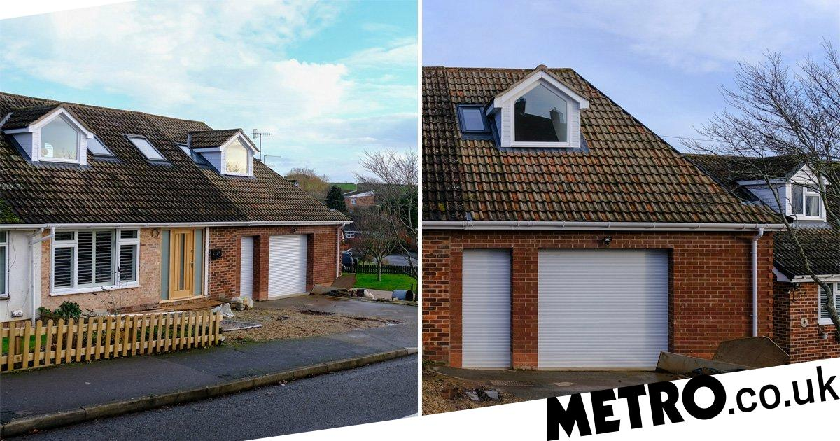 The owners of the bungalows ordered the new roof to be pulled down