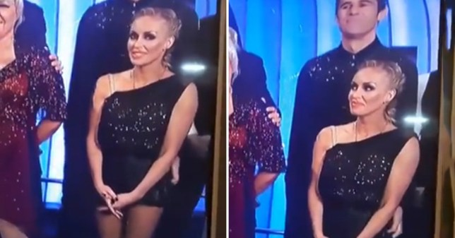 Dancing On Ice's Kevin Kilbane caught 'tickling Brianne Delcourt's bum cheek' and viewers are lolling