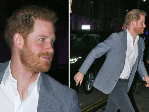 Beaming Prince Harry seen for first time after royal exit