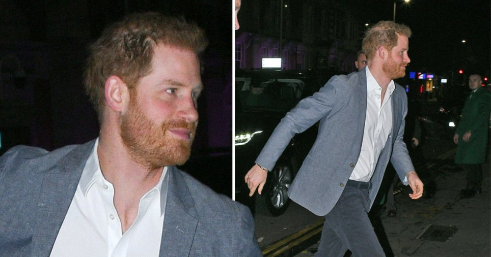 Prince Harry at Ivy Restaurant in Chelsea for charity event after losing HRH title