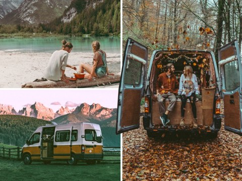 Couple live in minibus and travel Europe spending just £100 a week