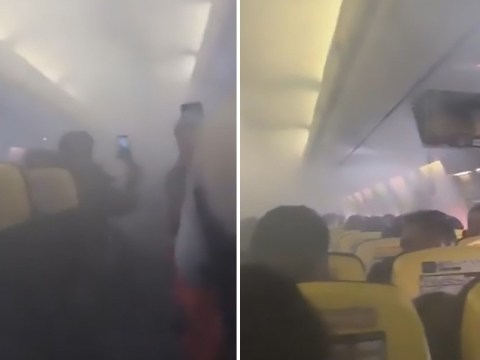 Panic on Ryanair flight after cabin suddenly fills with smoke