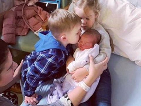 Rebekah Vardy shares beautiful photo of her kids meeting their new baby sister Olivia