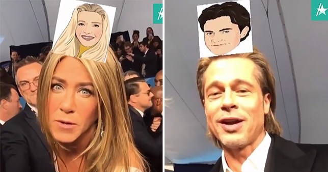 Brad Pitt and Jennifer Aniston find out which Friends characters they are on SAG Awards red carpet and spoiler alert… she's not Rachel