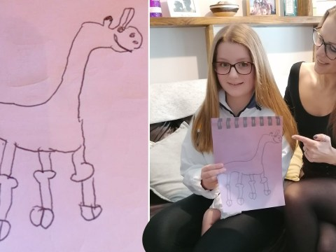 Girl finally realises why her drawing of a giraffe is funny after a sex education lesson