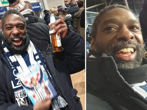 West Brom fans buy season ticket for homeless man who'd never seen football match